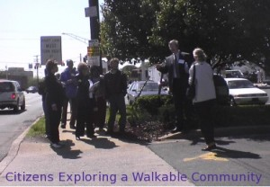 A group of people walking and talking together